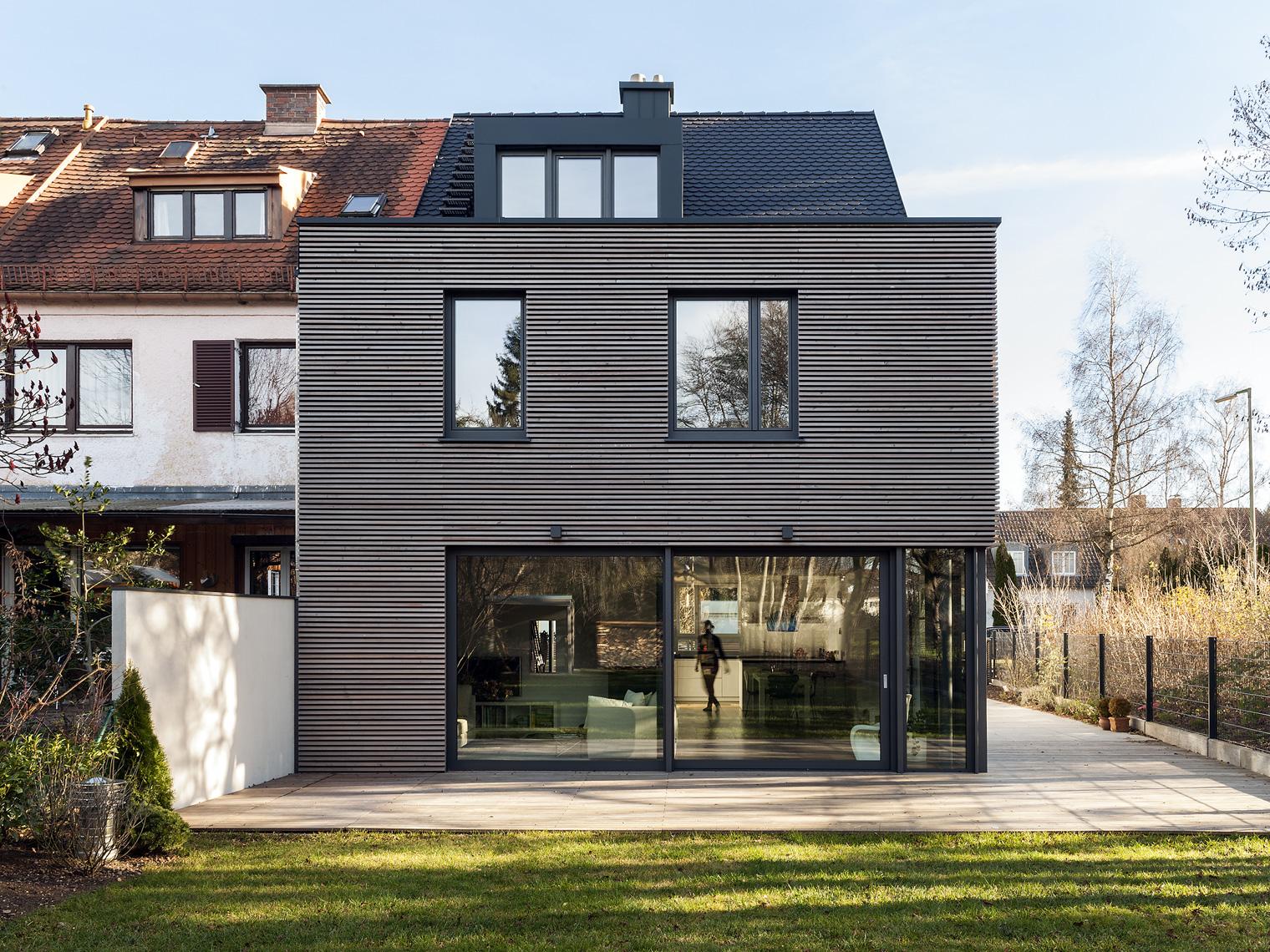reihenendhaus m nchen harlaching arcs architekten. Black Bedroom Furniture Sets. Home Design Ideas